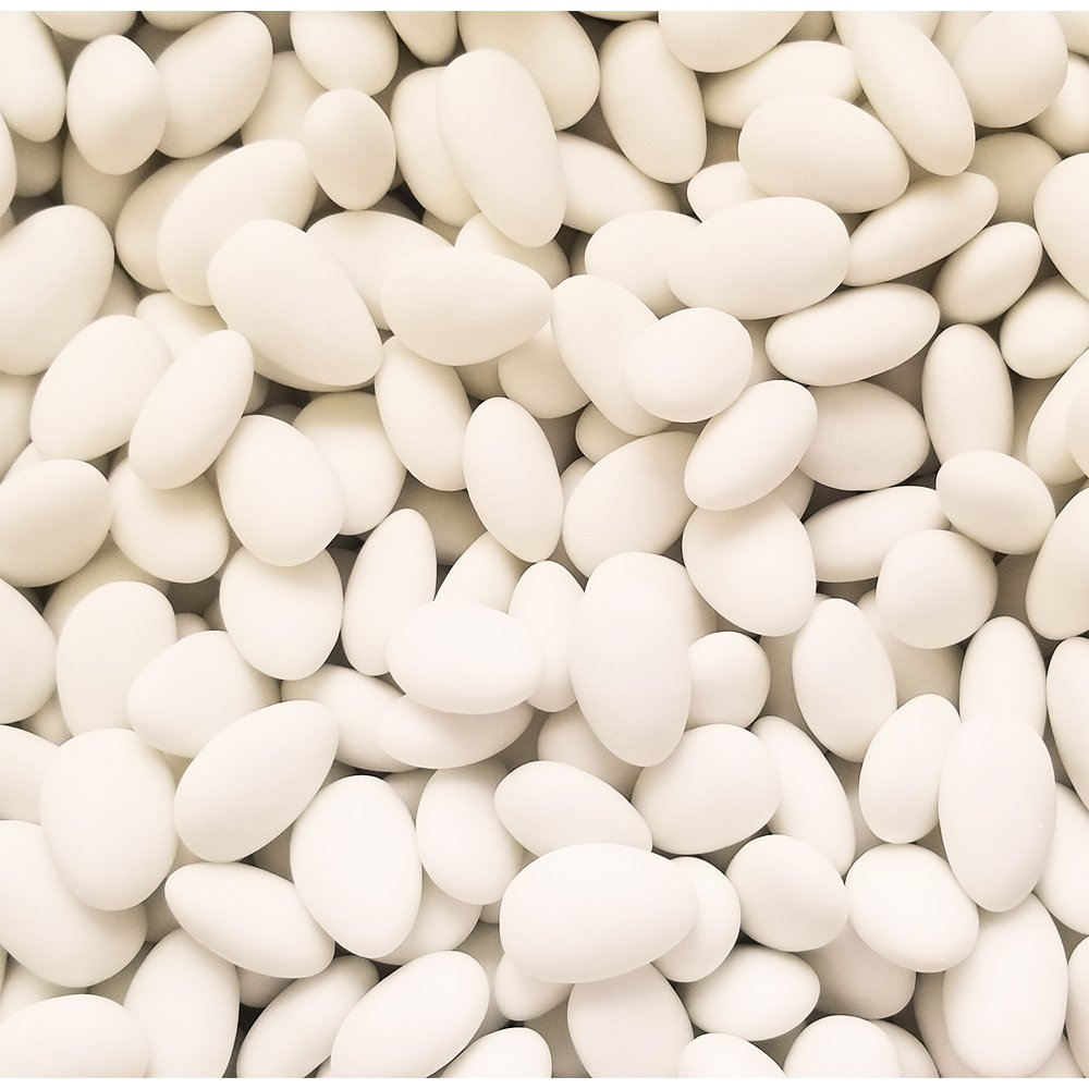 White Jordan almonds candy for weddings and reception