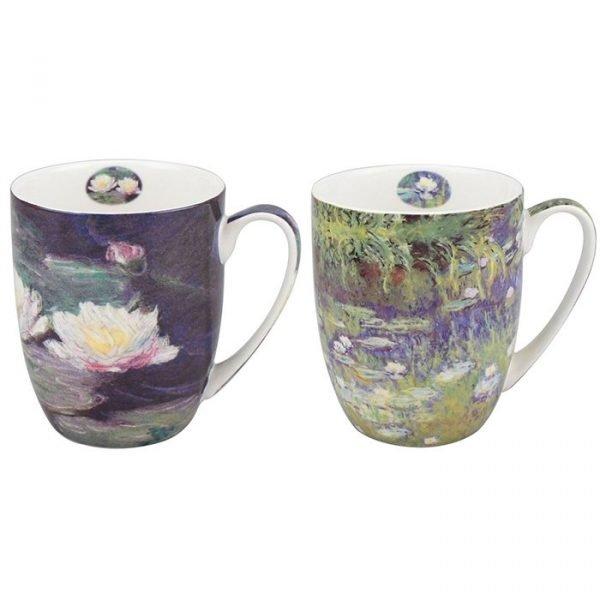 Claude Monet Waterlilly mug set
