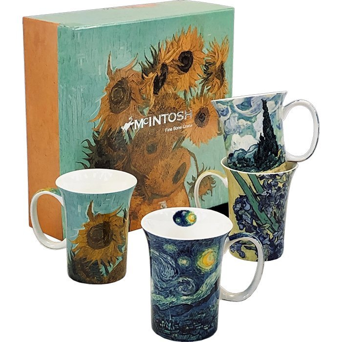 McIntosh Van Gogh 4 mugs