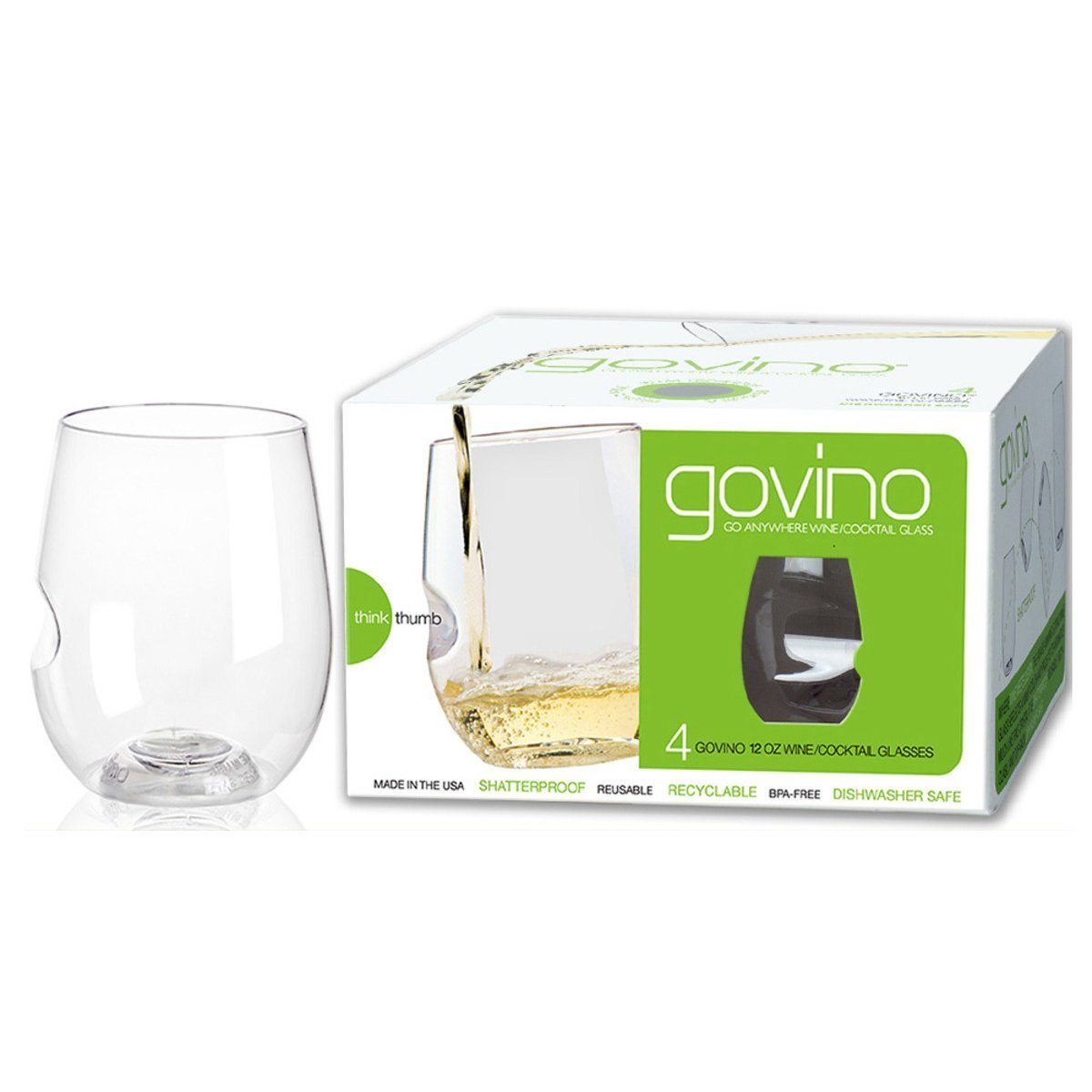Govino White Wine Glasses