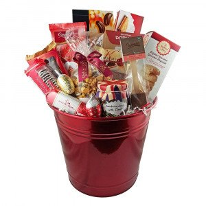 Holiday drummer gift basket