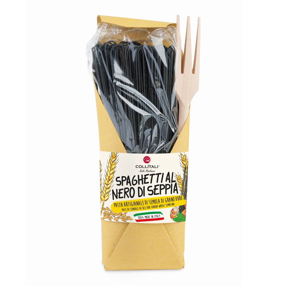 Collitali Squid Ink Spaghetti 500g
