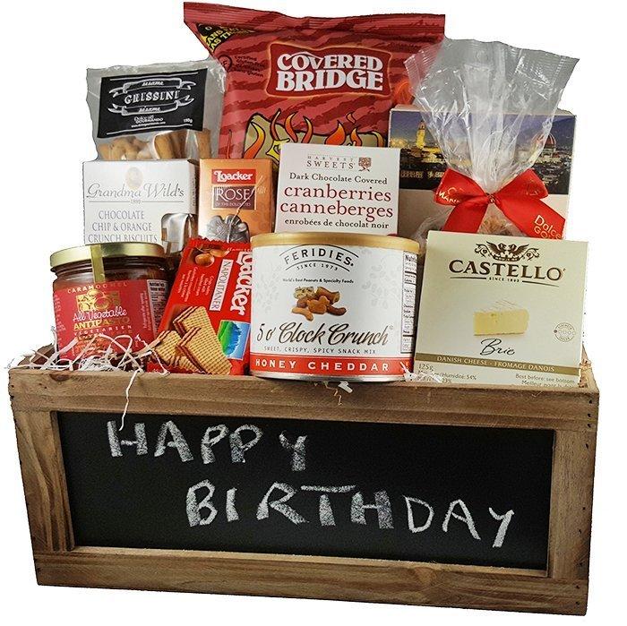 Happy Birthday Crate Gift Basket