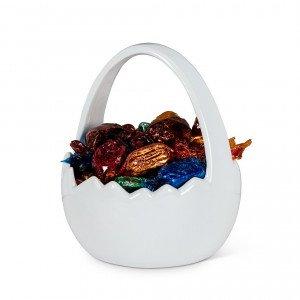 White Ceramic Easter Planter
