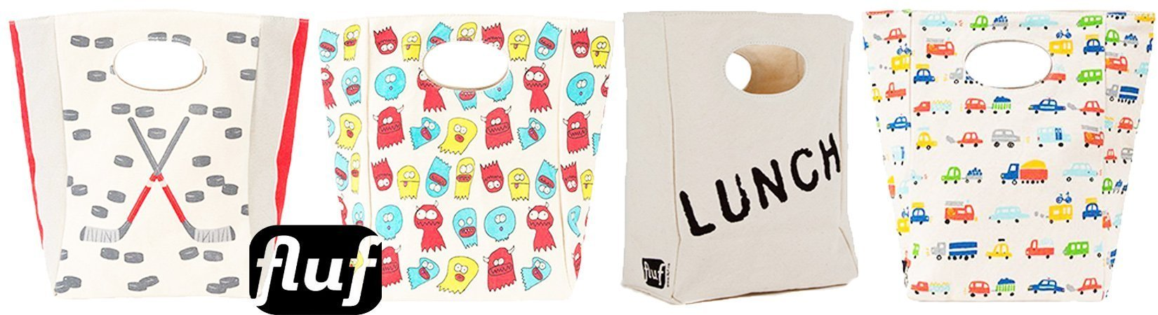 FLUF 100%Organic Cotton Lunch Bags