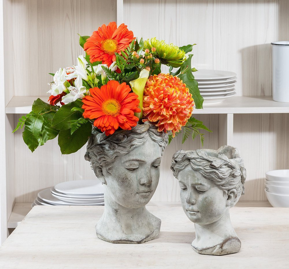Large Goddess Head Planter