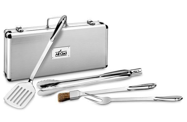 All-Clad BBQ Tool Set with Metal Case