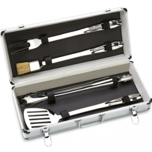 ALL-CLAD BBQ Tool Set with locking metal case