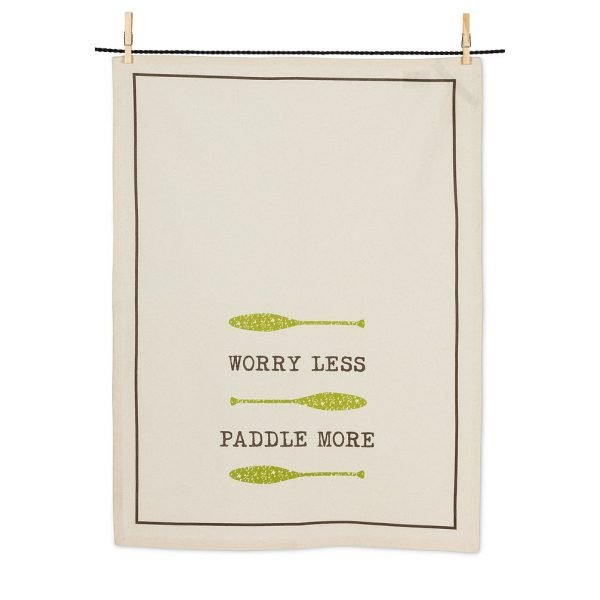 Cottage Tea Towel Worry Less Paddle More
