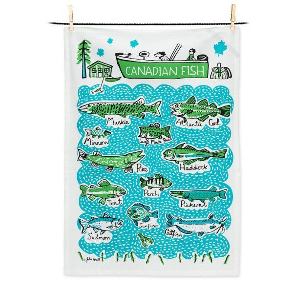 Canadian Fish Tea Towel