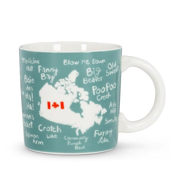 Canadian Funny Quirky City and Town Names Mug