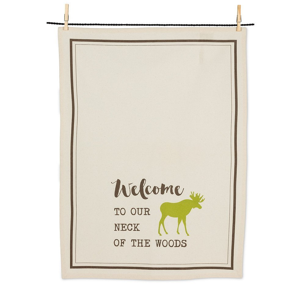 Ivory Tea towel-Welcome to our neck of the woods