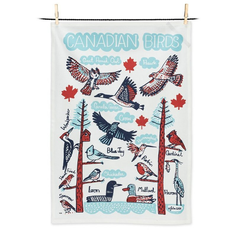 Canadian Birds Tea Towel