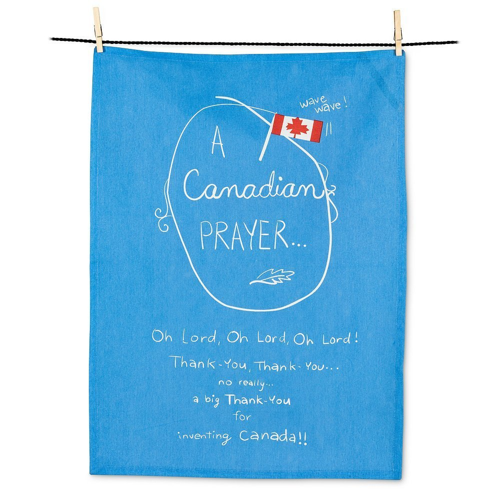 Quirky Canadian Prayer Tea Towel