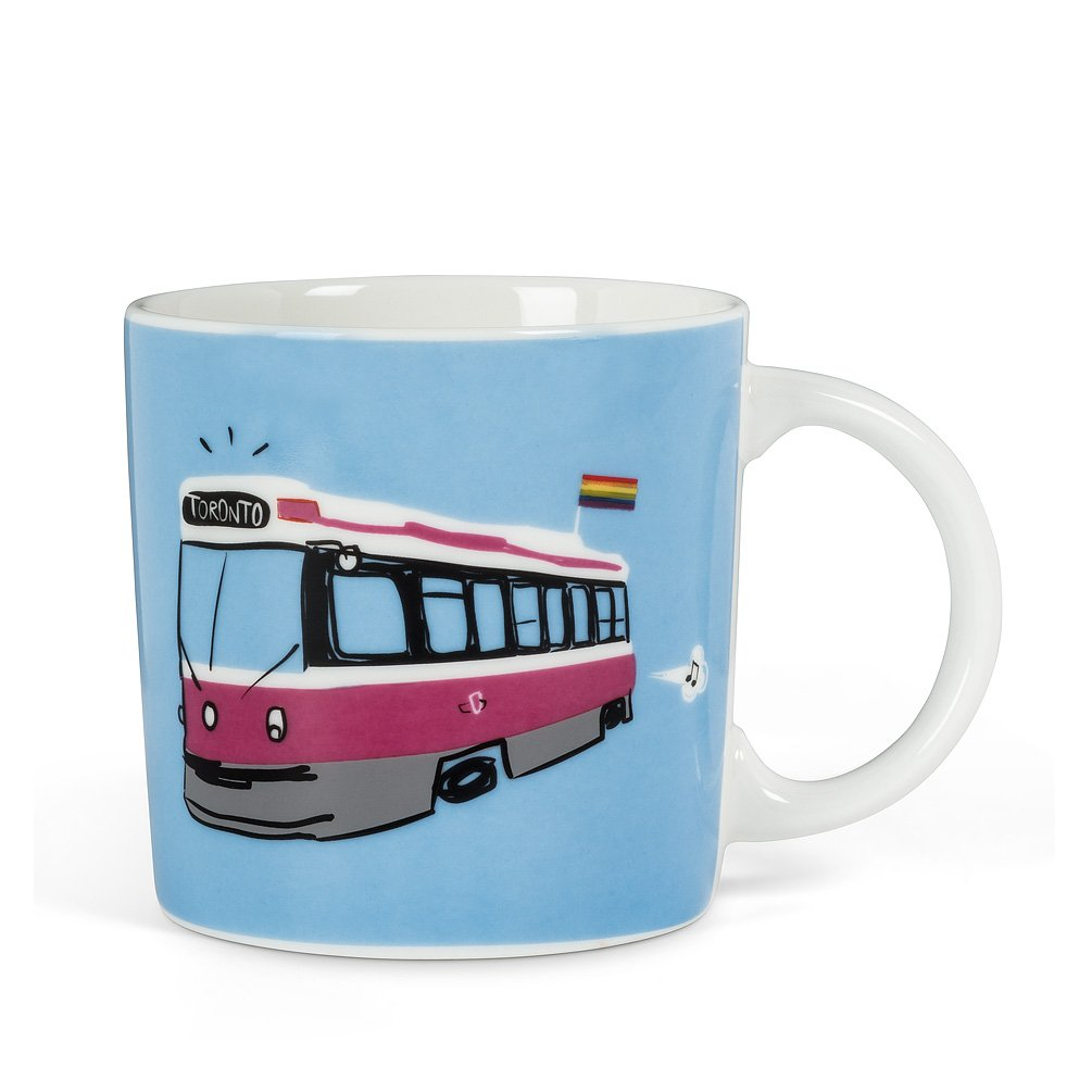 Toronto Street Car Mug with LGBT Pride Flag
