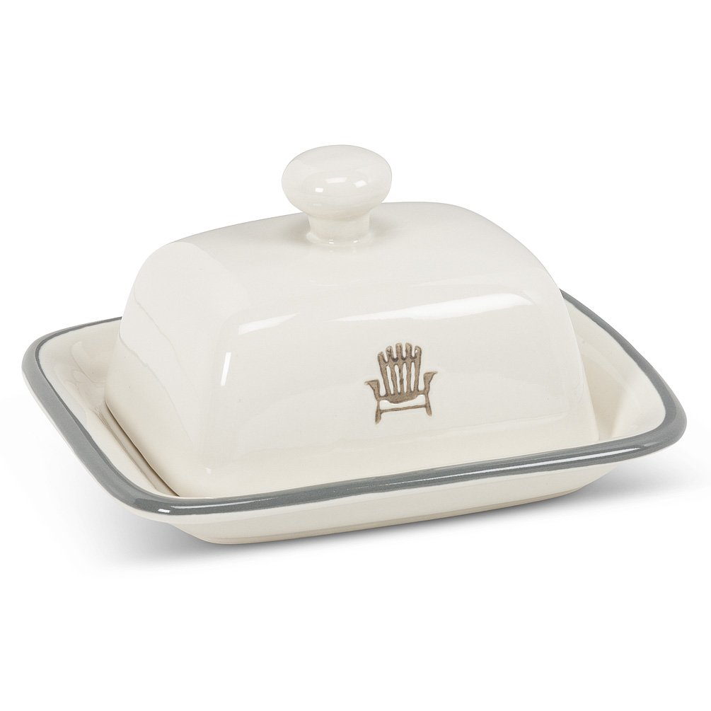 Cottage stoneware butter dish