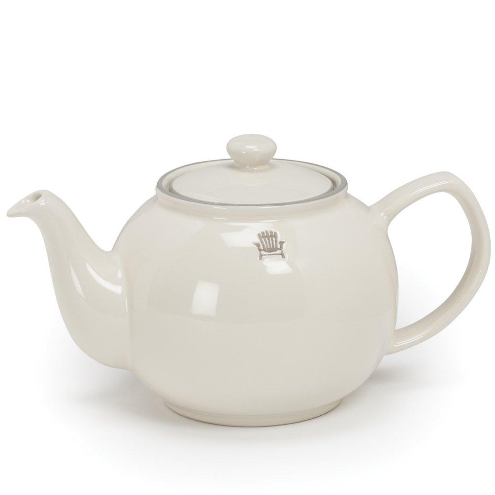 Ivory stoneware teapot