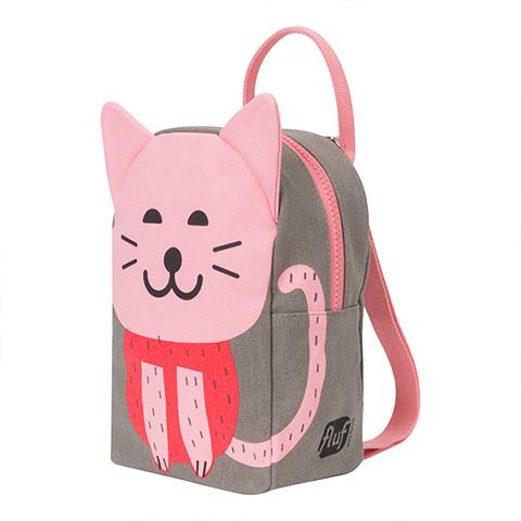 FLUF Lil B Grey Cat Backpack for Preschooler