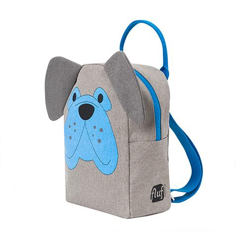 FLUF Lil B Grey Dog Backpack for Preschooler