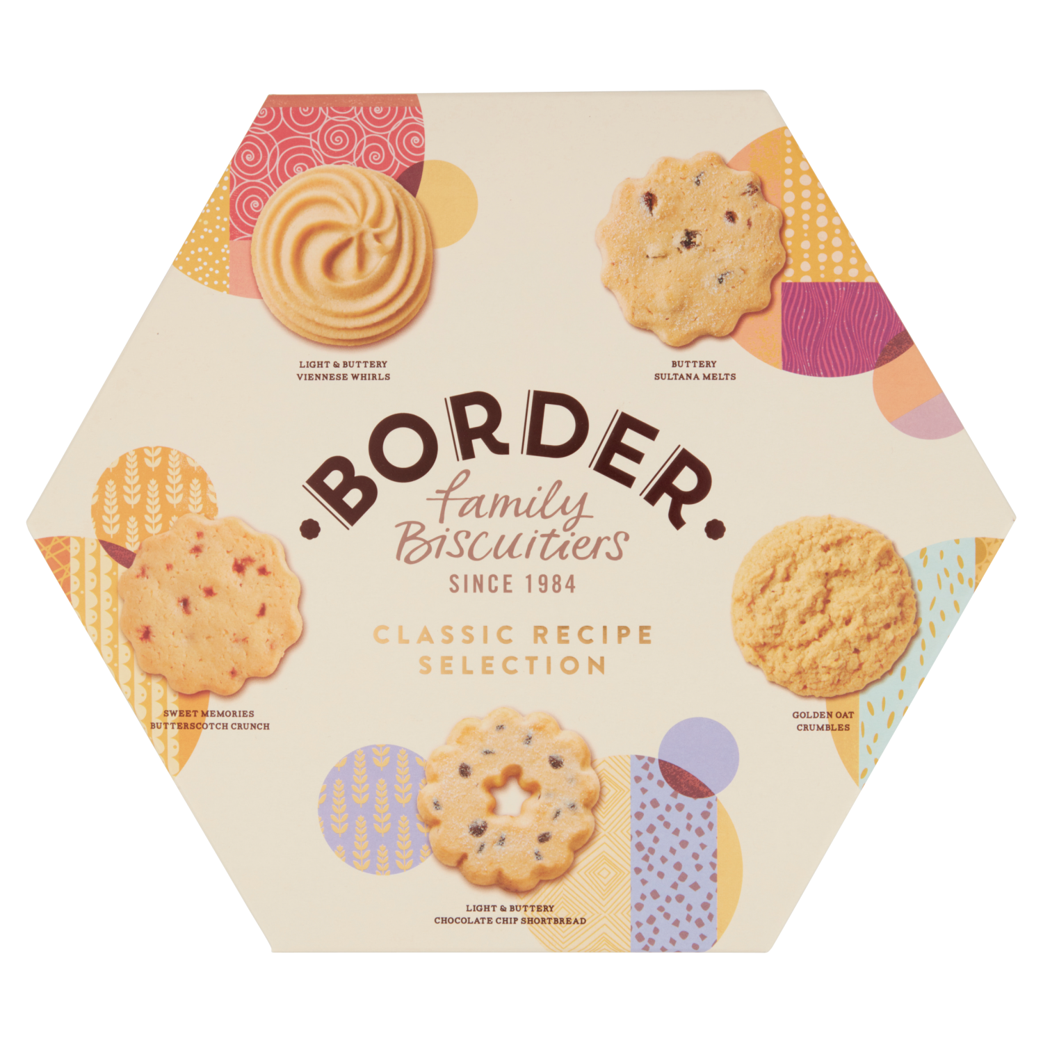 Scottish Border Selection Biscuits Hex Box