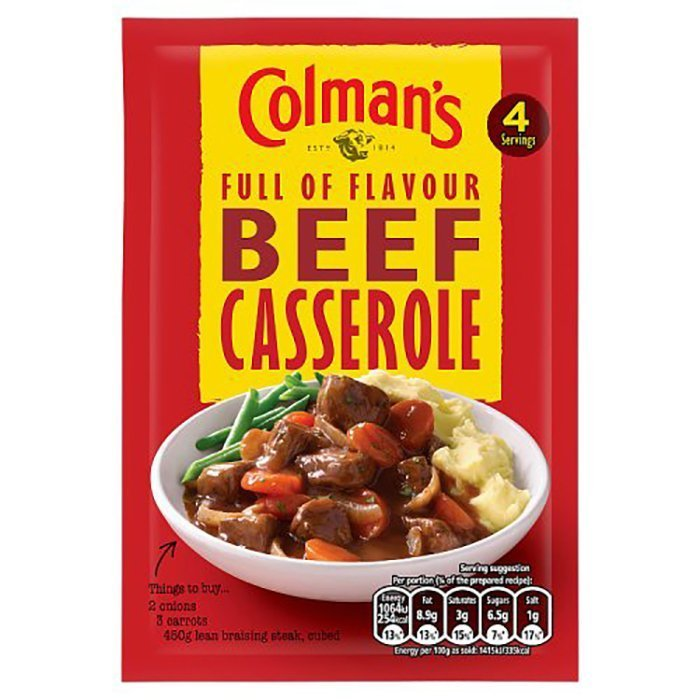 Colman's Full Flavour Beef Casserole Sauce Mix