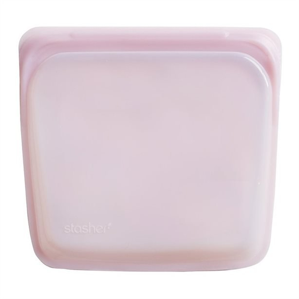 Stasher Silicone Pink Shimmer Bags