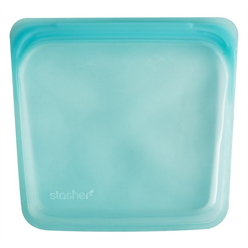 Stasher Sandwich Bag Aqua