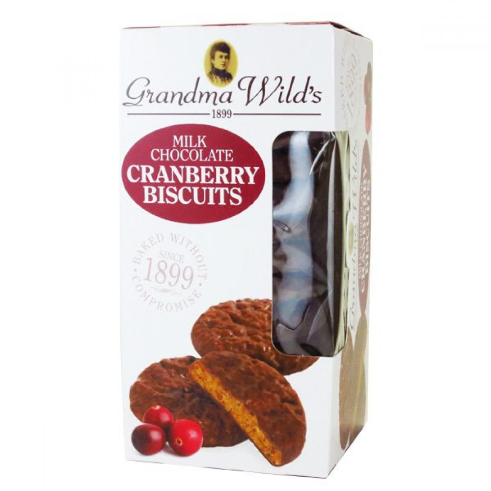 Grandma Wild's Milk Chocolate Cranberry Biscuits