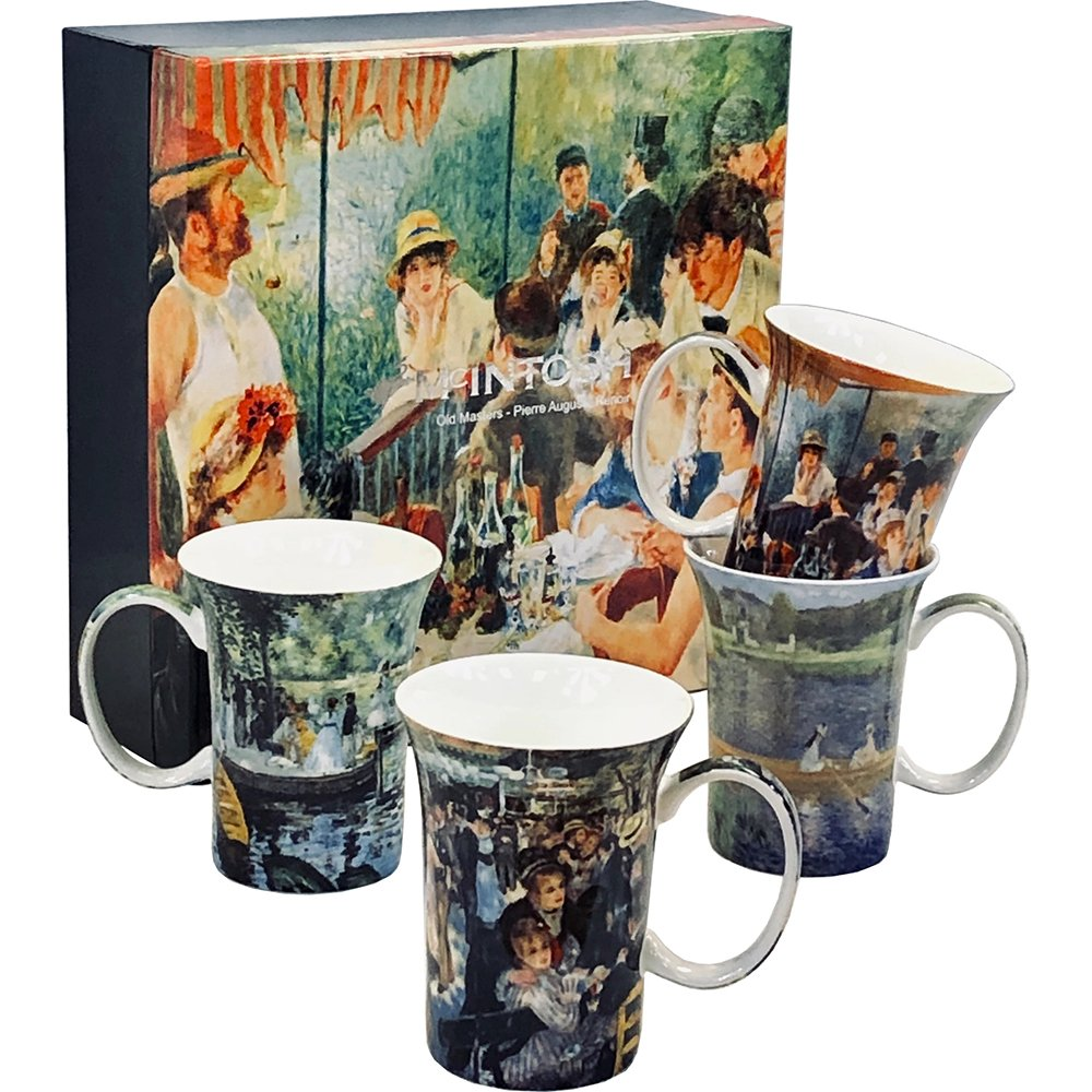 Renoir 4 Bone China Mugs