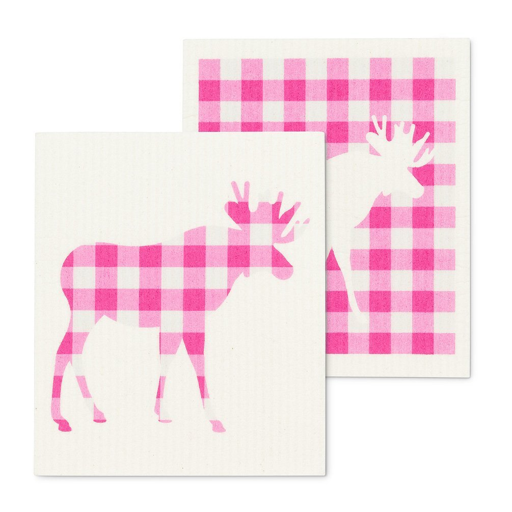 Gingham Moose Swedish Cloths.