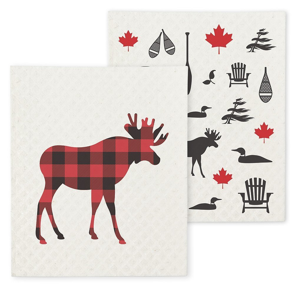 Moose and Icons Swedish cloth