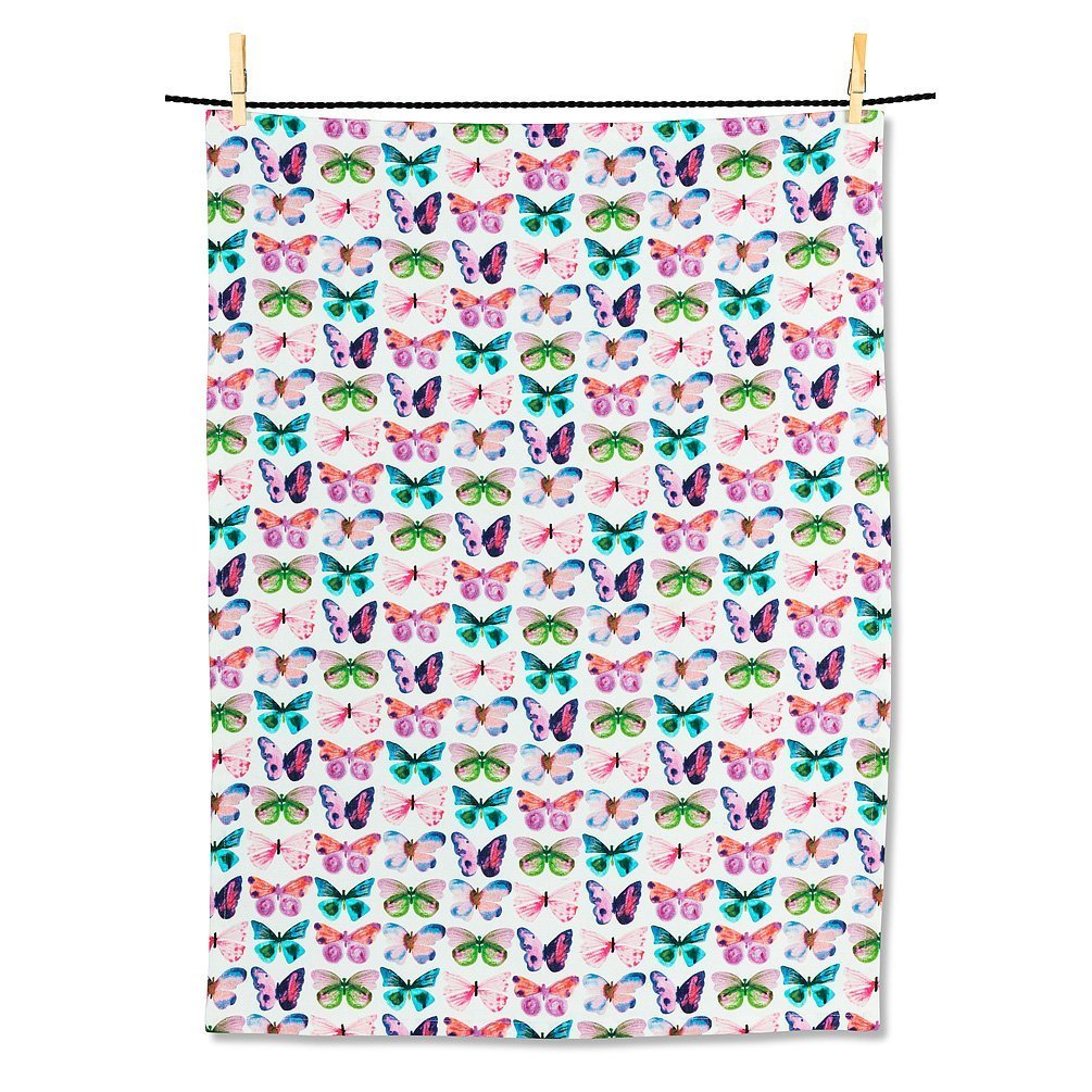 Watercolour Butterfly Tea Towel