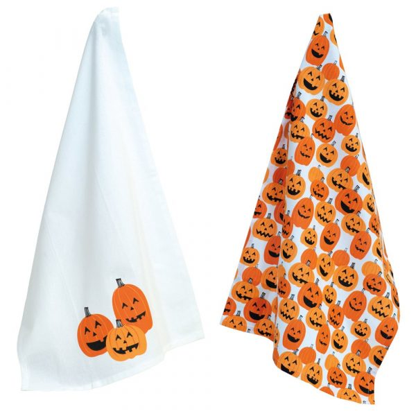 Jack o lantern tea towels