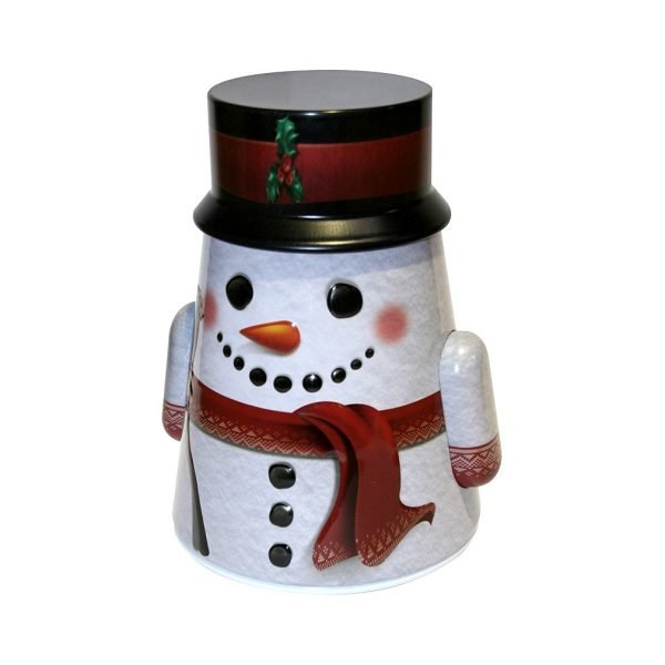Grandma Wild's Snowman Rocking Tin with English Biscuits