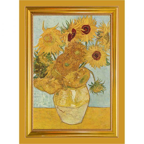 Tea Towel of Van Gogh's Sunflowers