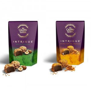 Nestlé UK Quality Street Intrigue Pralines and Salted Caramels Assorted 200g