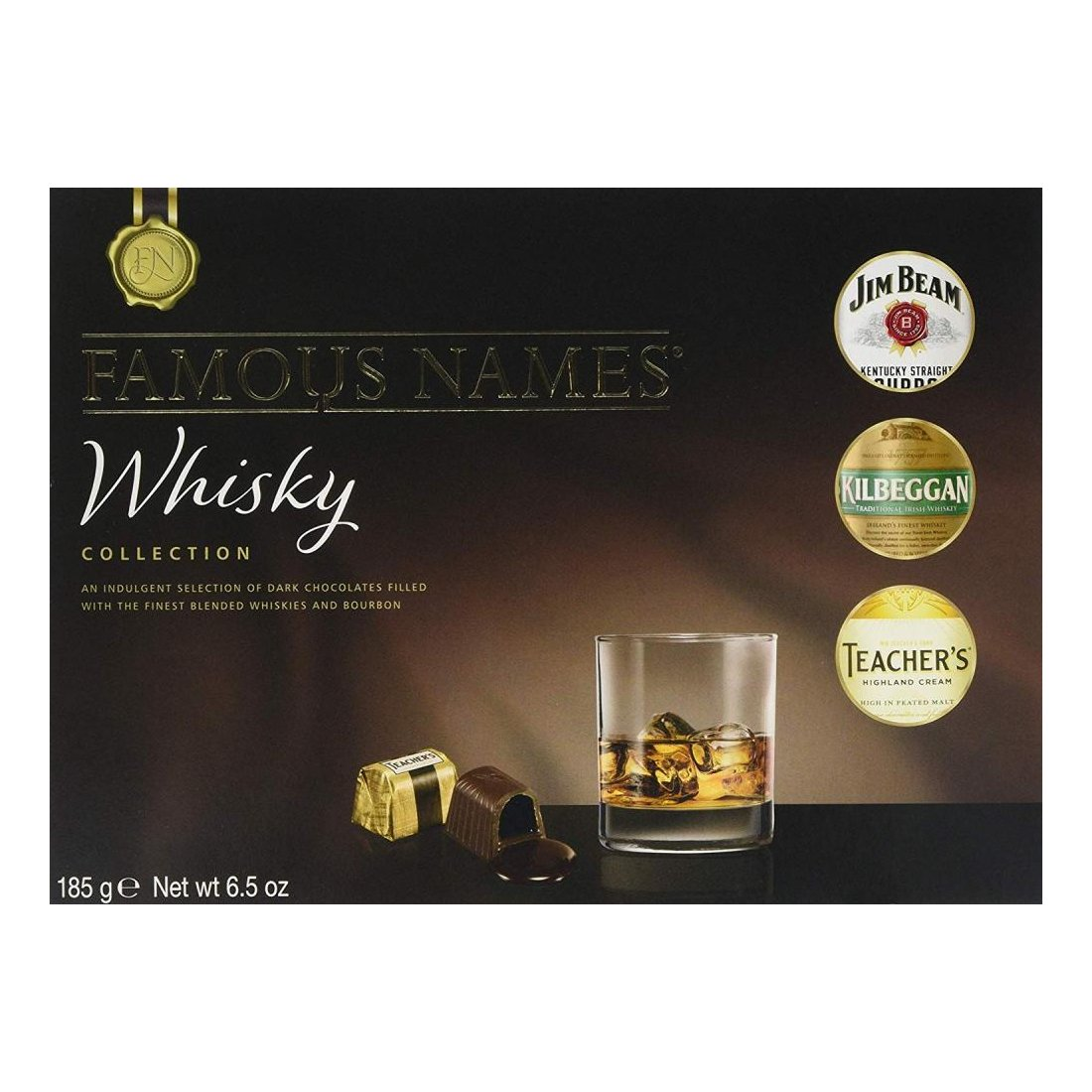 Famous Names Whisky Liqueurs Collection of Chocolates