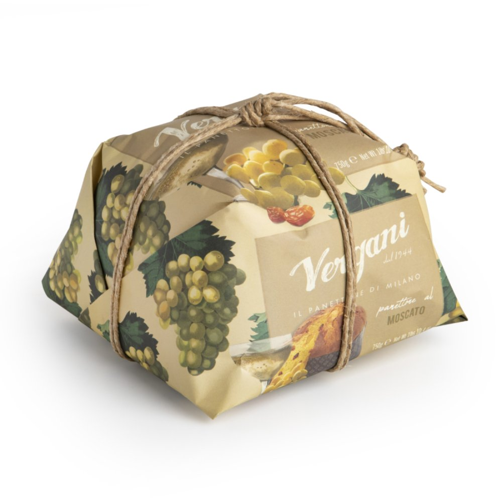 Vergani Traditional Panettone with Moscato from Milan, 750g