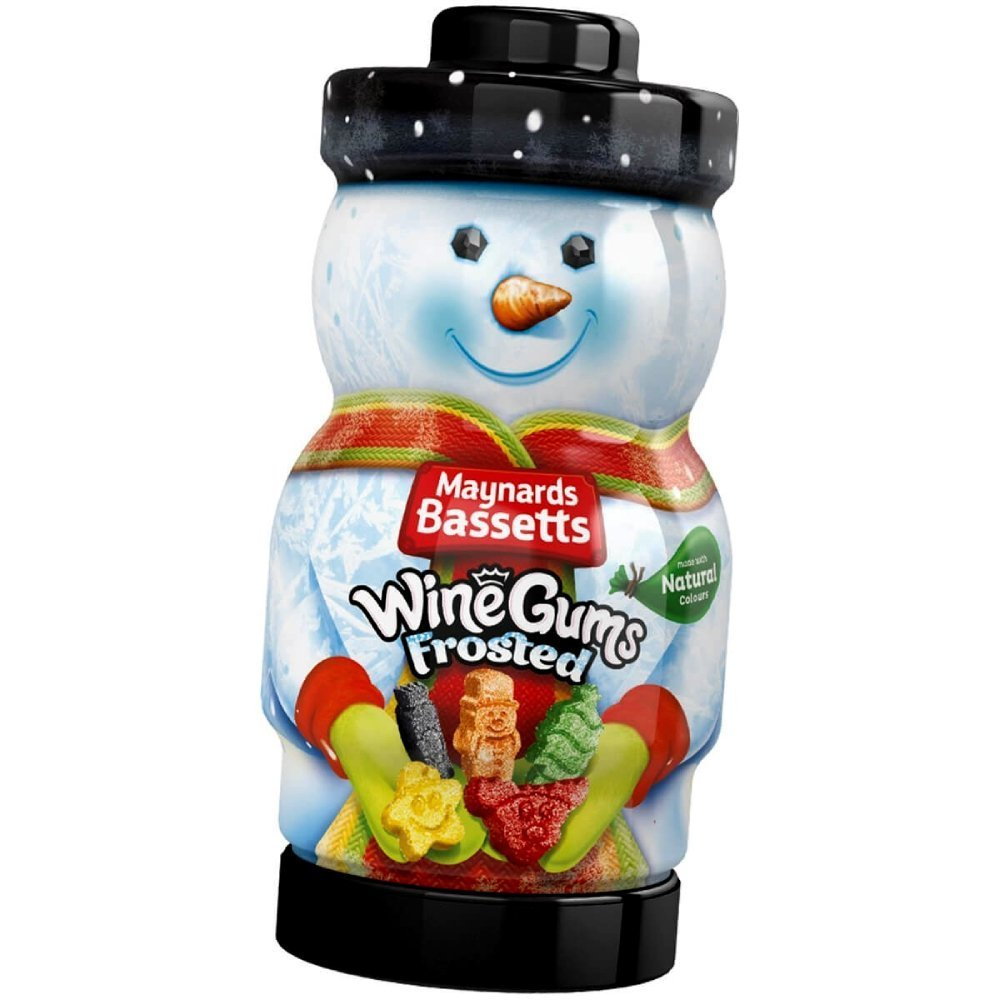 Maynards Bassetts Frosted Wine Gums Collectable Character Jar 495g
