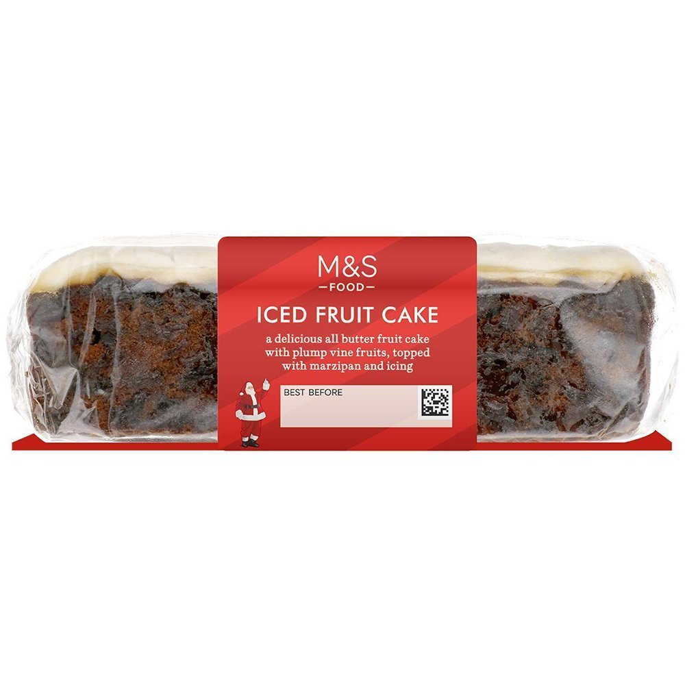 Marks and Spencer Iced Fruit Cake Bar
