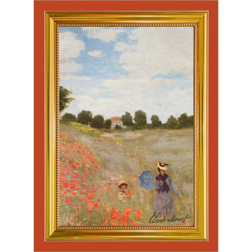 Tea Towel Claude Monet Poppies