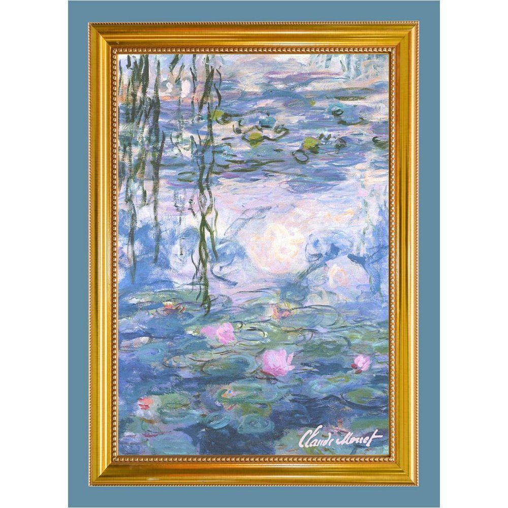 Tea Towel illustrating Monet's Waterlilies