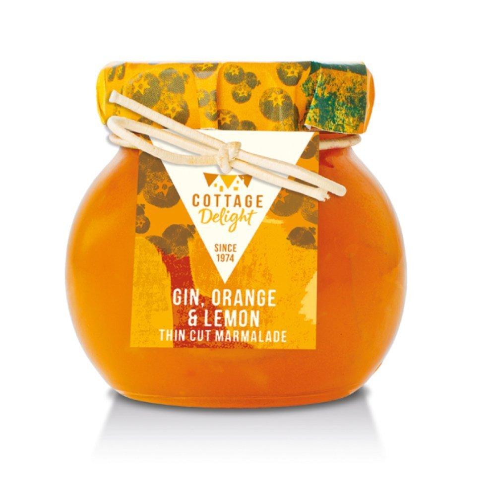 Cottage Delight Gin, Orange Lemon Thin Cut Marmalade 113g