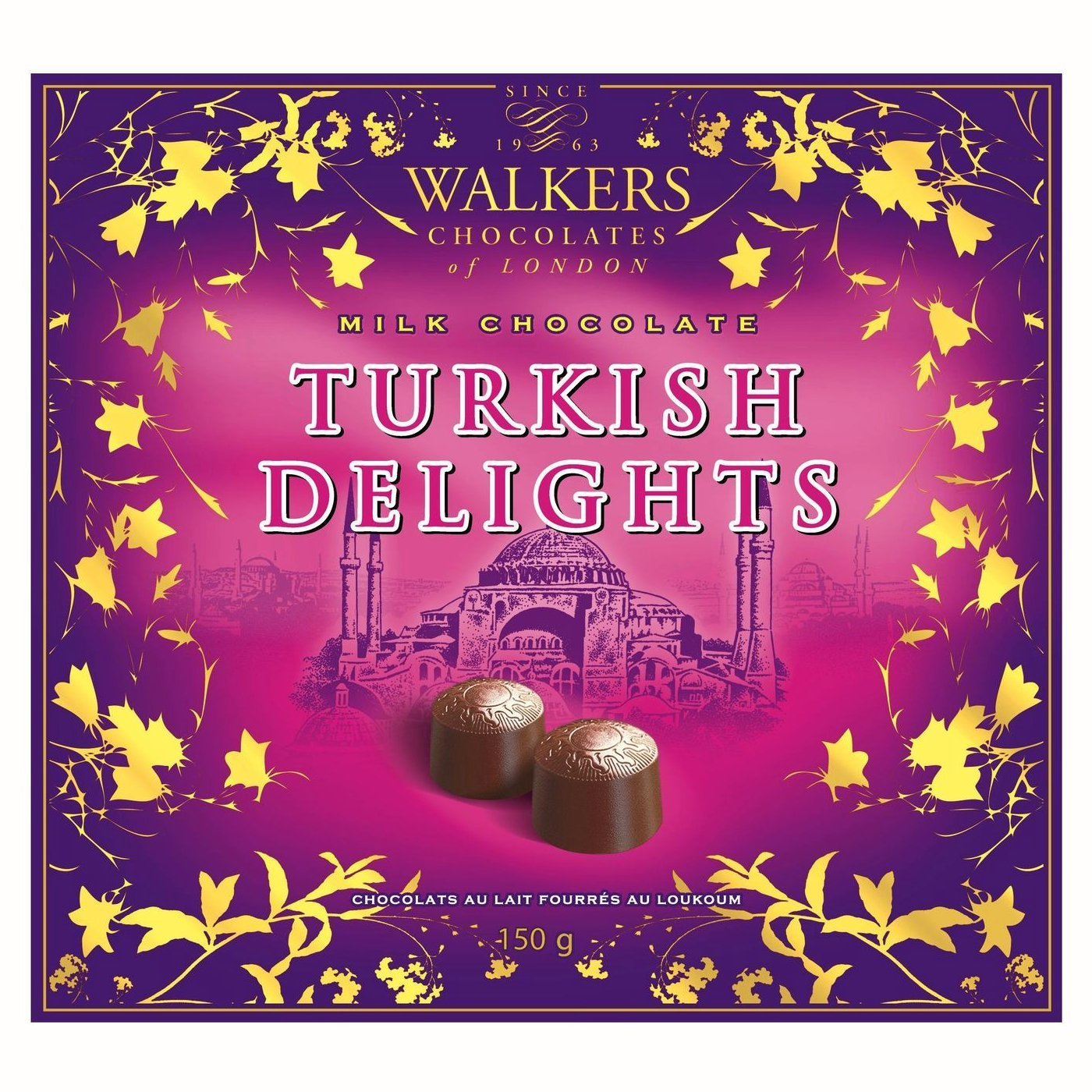 Walkers of London Milk Chocolate Turkish Delights, 150g