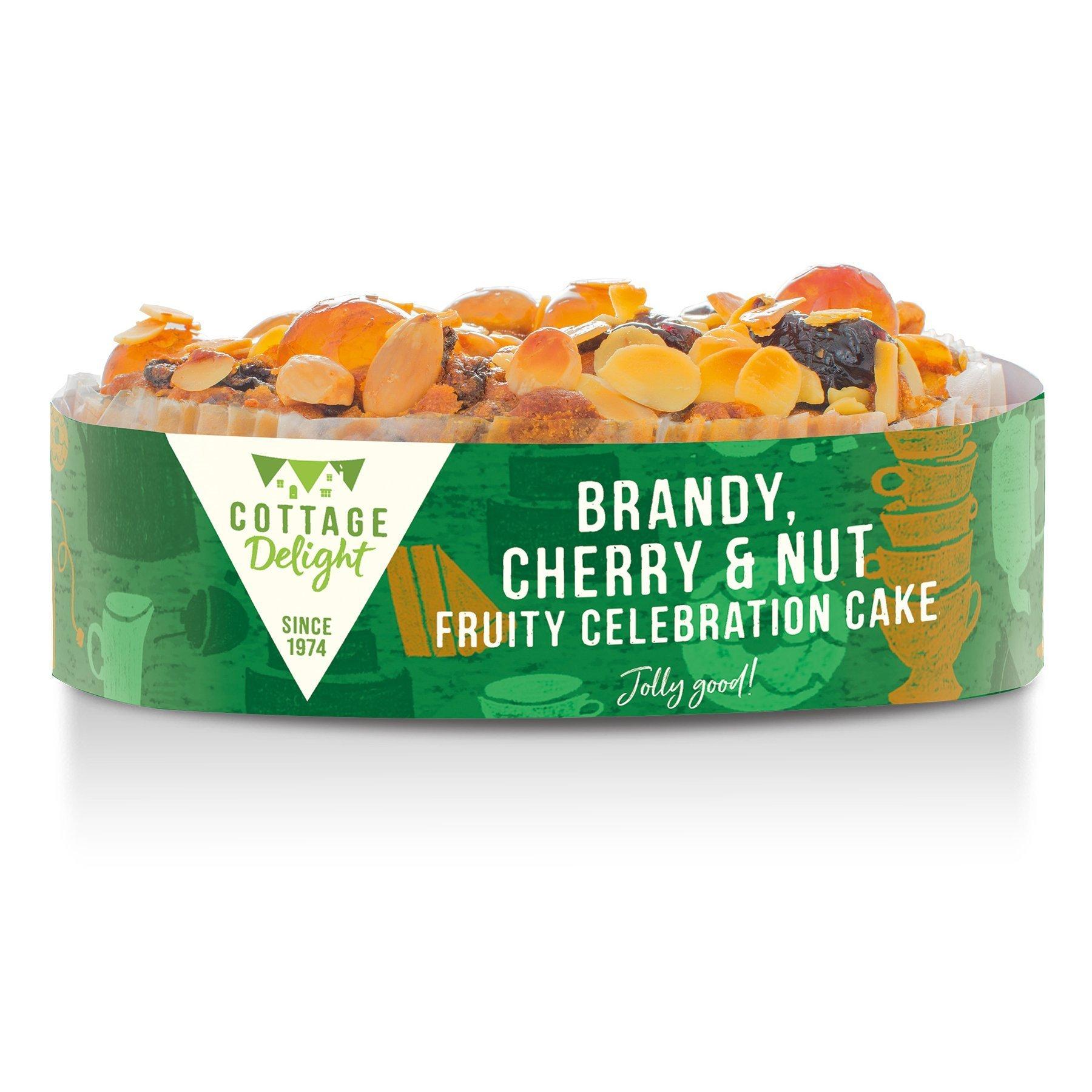 Cottage Delight Brandy, Cherry & Nut Fruity Celebration Cake 500g