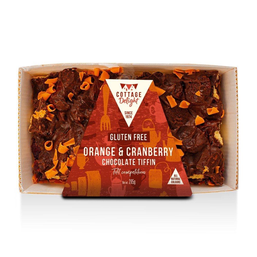 Cottage Delight Gluten Free Orange & Cranberry Chocolate Rocky Road 285g
