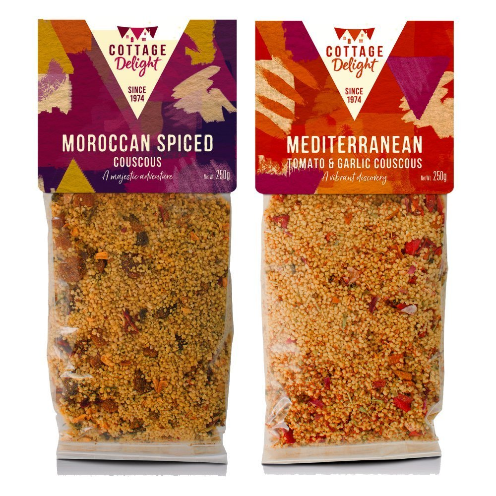 Cottage Delight Mediterranean and Moroccan Couscous-Assorted 250g (2 pack)