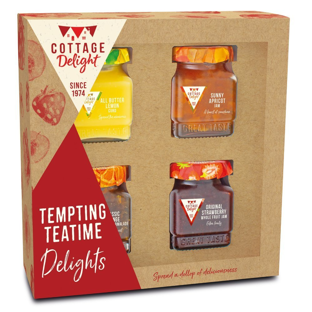 Cottage Delight Tempting Teatime Fruit Spreads Gift Pack Assorted 452g