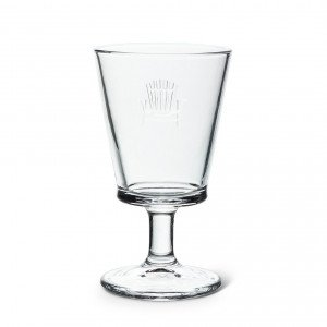 Cottage Chair Goblet clear glass