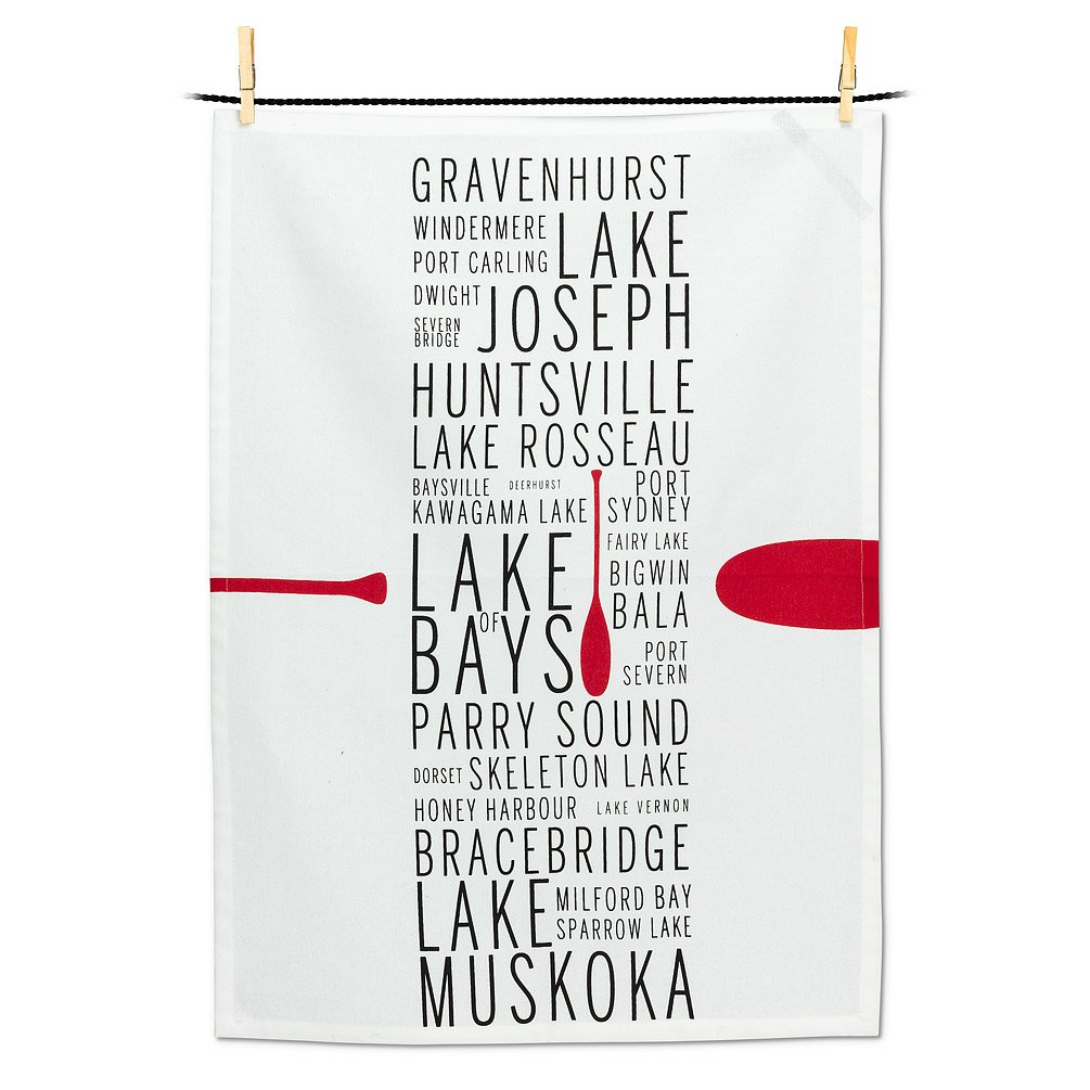 Muskoka Names Tea Towel